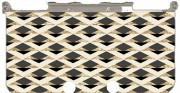 GLITTER TRIANGLES IN GOLD, BLACK AND NUDE Case for New Nintendo 3DS