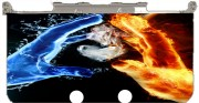 Love duet Ice and Flame Case for New Nintendo 3DS