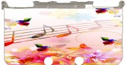 Musical Notes Butterflies Case for New Nintendo 3DS