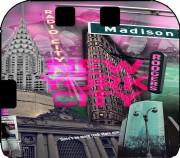 New York City II [pink] Case for Nintendo 2DS