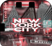 New York City II [red] Case for Nintendo 2DS