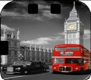 Red bus of London with Big Ben Case for Nintendo 2DS
