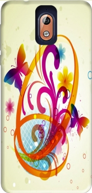 Butterfly with flowers Case for Nokia 3.1