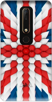 3D Poly Union Jack London flag Case for Nokia 6.1