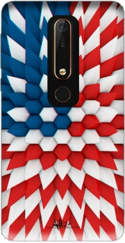 3D Poly USA flag Case for Nokia 6.1