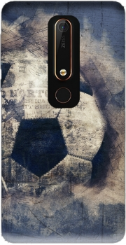 Abstract Blue Grunge Football Case for Nokia 6.1