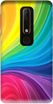 Rainbow Abstract Case for Nokia 6.1