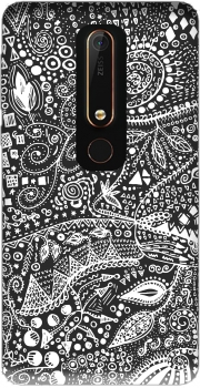 Aztec B&W (Handmade) Case for Nokia 6.1
