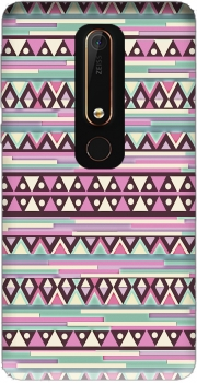 Aztec Pink And Mint Case for Nokia 6.1