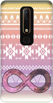 Pink Aztec Infinity Case for Nokia 6.1