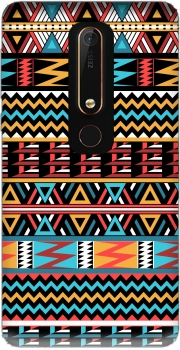 aztec pattern red Tribal Case for Nokia 6.1