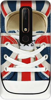 All Star Basket shoes Union Jack London Case for Nokia 6.1