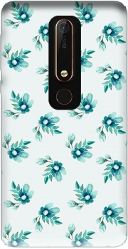 Blue Flowers Case for Nokia 6.1