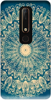 Blue Organic boho mandala Case for Nokia 6.1