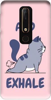 Cat Yoga Exhale Nokia 6.1 Case