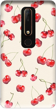Cherry Pattern Case for Nokia 6.1