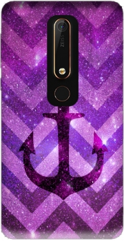Anchor Chevron Purple Case for Nokia 6.1