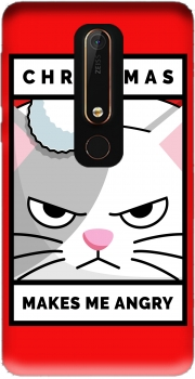 Christmas makes me Angry cat Nokia 6.1 Case