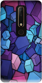 Blue Cube Case for Nokia 6.1