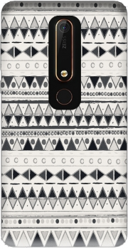 Ethnic Candy Tribal in Black and White Case for Nokia 6.1