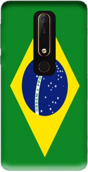 Flag Brasil Case for Nokia 6.1
