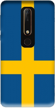 Flag Sweden Case for Nokia 6.1