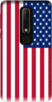 Flag United States Case for Nokia 6.1