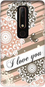 Flower Pastel I love you Case for Nokia 6.1