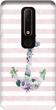 Floral Anchor in Pink Case for Nokia 6.1