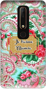 Floral Old Tissue - Je t'aime Mamie Case for Nokia 6.1