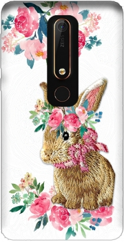 Flower Friends bunny Lace Nokia 6.1 Case