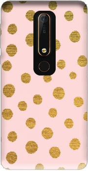 Golden Dots And Pink Case for Nokia 6.1