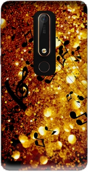 Golden Music Case for Nokia 6.1