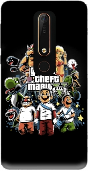 Grand Theft Mario Case for Nokia 6.1