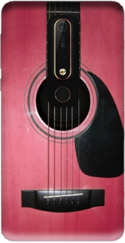 Pink Guitar Case for Nokia 6.1