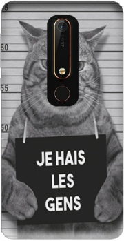 I hate people Cat Jail Nokia 6.1 Case