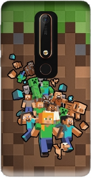 Minecraft Creeper Forest Case for Nokia 6.1