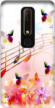Musical Notes Butterflies Case for Nokia 6.1