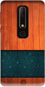 Natural Wooden Wood Bamboo Case for Nokia 6.1