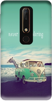 Never Stop Exploring - Lamas on Holidays Case for Nokia 6.1