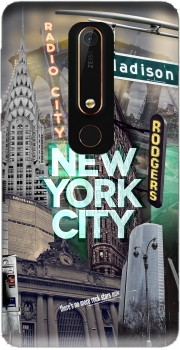 New York City II [green] Case for Nokia 6.1