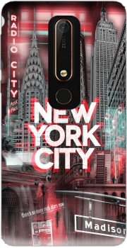 New York City II [red] Case for Nokia 6.1