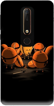 Orange Kill Fruit Case for Nokia 6.1