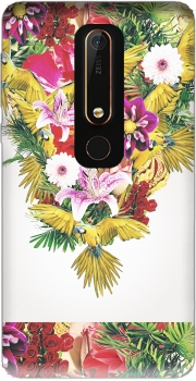 Parrot Floral Case for Nokia 6.1