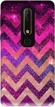 PARTY CHEVRON GALAXY  Case for Nokia 6.1