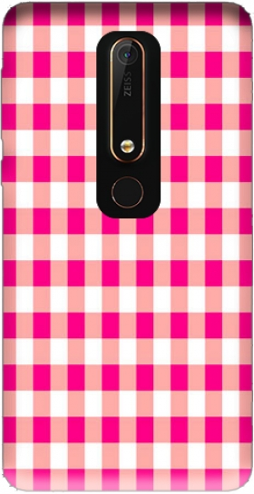 Case Pink Square Vichy for Nokia 6.1