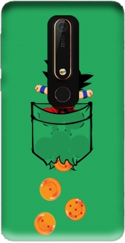 Pocket Collection: Goku Dragon Balls Case for Nokia 6.1