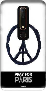 Pray For Paris - Eiffel Tower Case for Nokia 6.1