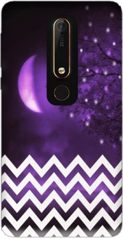 Purple moon chevron Case for Nokia 6.1