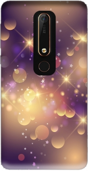 Purple Sparkles Case for Nokia 6.1